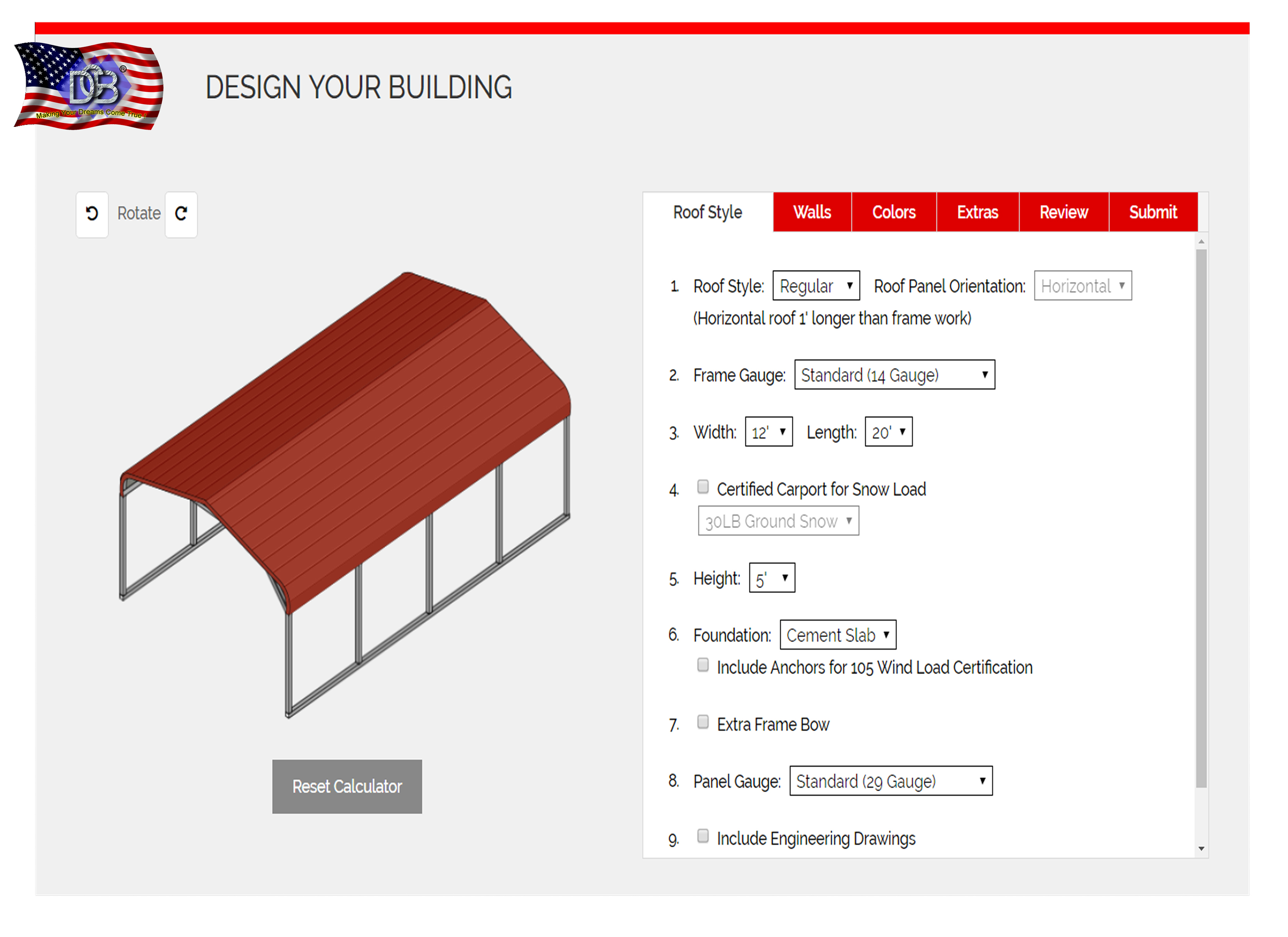 Design your own building image